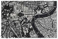 damien hirst sculpts black scalpel cityscapes from surgical tools