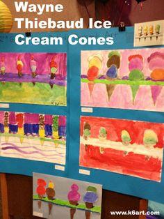wayne thiebaud ice cream cones