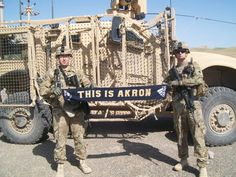 Really cool to see the Zips represented across the globe! Thanks for your service guys!