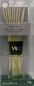 Lavender WoodWick 2 oz. Reed Diffuser by WoodWick Diffusers. $13.20. A soothing scent of delicate lavender in full bloom on a french countryside. Fragrance your home without a flame with Reed Diffusers from WoodWick! Each high quality reed diffuser set features highly concentrated fragrances infused with essential oils in a contemporary design. At The Lamp Stand, we offer the Reed Diffuser Refills so you can refill any reed diffuser or create your own special scent...