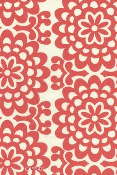 Amy Butler patterned quilting & fashion weight fabric from Lotus Tea Box series: cherry / wall flower  ab-17  (limited production)