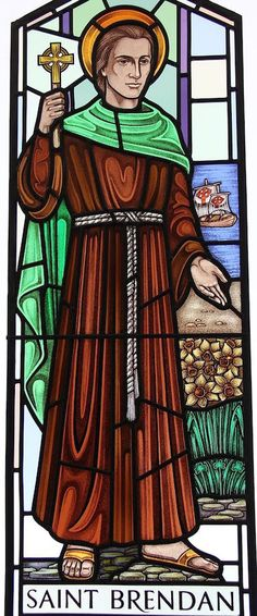 St Brendan  by Gilroy Stained Glass, is installed at St Mary's, Kerrisdale