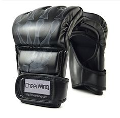 Cheerwing Half Finger Boxing Gloves MMA UFC Sparring Grappling Fight Punch Ultimate Mitts Leather Gloves -- Read more at the image link. (This is an affiliate link) Boxing Fight, Mma Boxing, Boxing Girl, Kickboxing Gloves, Workout Gloves, Boxing Training Gloves, Heavy Punching Bag, Mma Gloves, Muay Thai Training