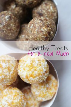 These healthy treats for a new mum are a perfect gift to give a friend or family member who has recently given birth. Rich in iron and packed with oats and nuts