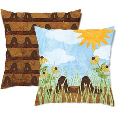 Earthy Earthworms Throw Pillow ($24) ❤ liked on Polyvore featuring home, home decor, throw pillows, black, decorative pillows, home & living, home décor, flower stems, black home decor and black outdoor throw pillows