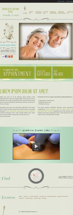#sesamewebdesign #psds #dental #responsive #top-nav #green #blue #brown #whimsical #serif #texture #gradient #full-width