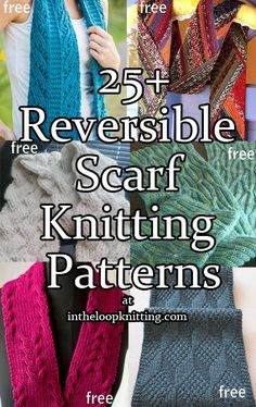 Reversible Scarf Knitting Patterns. Most patterns are free