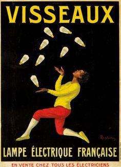Leonetto Capiello (Italie/France, 1875-1942) – Ampoules  Visseaux (1913)