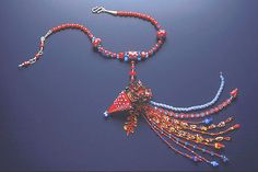 Heather Trimlett's lampwork bead on Vessel Necklace  by Mary Hicklin (Virgo Moon)