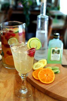 Vodka, Limoncello and Prosecco Sangria with Raspberries — Creative Culinary - Food & Cocktail Recipes - Denver, Colorado