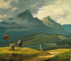 Wilhelm Ferdinand Bendz (1804-1832), Paysage de Montagnes.