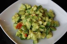 Apple Cucumber Avocado Salad- One of my favorite salads!