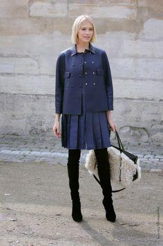 midnight blue. Lena in Paris. #ElenaPerminova