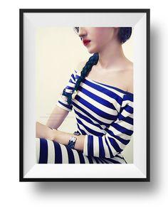 nautical dress #blue #hair