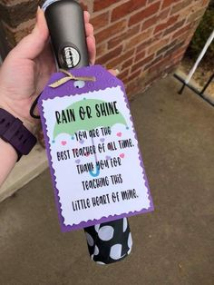 Rain or shine teacher gift
