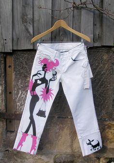 hand painted jeans German Glamour & Hugo Boss charity auction