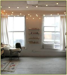 How To Hang String Lights Indoors Alluring Vintage String Lights For Indoorsin The Living Room Draped From Design Ideas