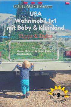 Die USA mit Wohnmobil und Baby / Kleinkind bereisen - perfekt. Immer mehr Familien sind auf diese Reiseart in Amerika unterwegs. Vorab aber gilt es vor allem mit Kind, einige Fragen zu klären. Wo schläft das Kind, wo kommt der Kinderwagen hin und wie ist das mit dem Autositz?! In unserem persönlichen Wohnmobil 1x1 für das Reisen mit Baby / Kleinkind möchten wir die wichtigsten Fragen beantworten.