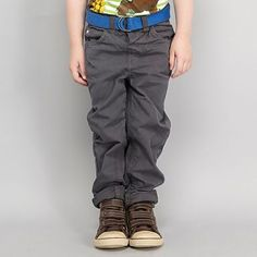 Boy's grey belted chinos | Bluezoo at Debenhams  Fantastic combined with our boys' Strobe Top