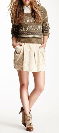 Charlotte Ronson Draped Silk Skirt- but a little longer, please...