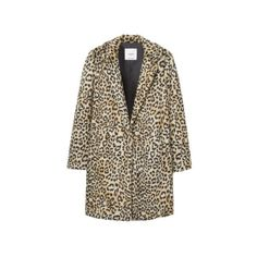 Leopard faux-fur coat