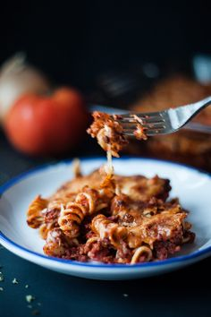 Beef & Bacon Baked Pasta recipe.