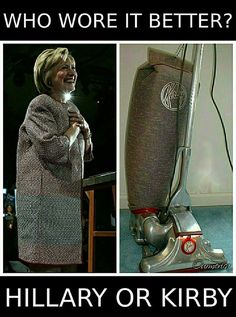 I feel like Kirby did better but Hillary looks pretty good in the thing that…