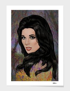 «Bobbie Gentry - Queen Of Country Soul Framed Art Prints, Fine Art Prints, Canvas Prints, Bobbie Gentry, Superhero City, Art Of Dan, Soul Art, Modern Prints, My Arts