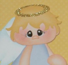 adorable paper pieced angel boy by Julie!