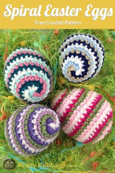 Click the image to view more about Amigurumi Easter Eggs Crochet Pattern! Crochet Yarn, Easy Crochet, Crochet Flowers, Crochet Stitches, Free Crochet, Spiral Crochet, Crochet Toys, Crochet Animals, Easter Crochet Patterns