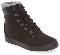 Timberland Flannery Hidden Wedge Faux Fur Lined Boot (Women)
