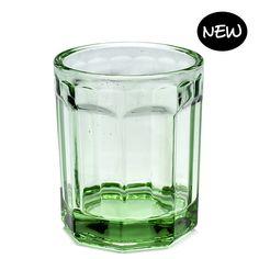 Drinkglas M Fish&Fish transparant groen - Serax www.livingdesign.be