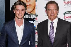 "PATRICK SCHWARZENEGGER AND ARNOLD SCHWARZENEGGER Ah-nold's son Patrick has modeled for Tom Ford and LA Models, which wants to push him for Ralph Lauren and Armani ad campaigns, and has had minor acting roles in Stuck In Love and Grown Ups 2. In 2011, he appeared on a Sunset Boulevard billboard in Hollywood advertising Hudson Jeans (and shirtless.) In 2013, he starred in Ariana Grande's music video for her single ""Right There."" He's a student at University of Southern California, leaving us w"