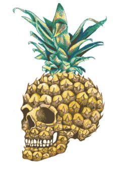 Pineapple Skull Counted Cross Stitch Pattern, Instant Download PDF, Relaxing Hobby.. https://www.etsy.com/listing/281132238/pineapple-skull-counted-cross-stitch
