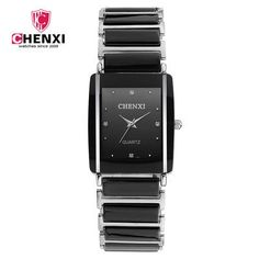 CHENXI Women Watches Black Ceramic Quartz Wrist Watches for Men Women Lover's Watches Fashion Bracelet Ladies Watch reloj mujer Outfit Accessories From Touchy Style Cool Cheap Watches, Best Kids Watches, Watches For Men, Wrist Watches, Black Watches, Best Affordable Watches, Style Outfits, Armani Watches, Casual Watches