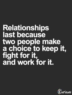 In any relationship