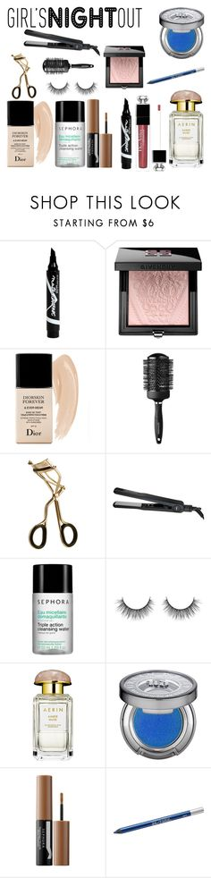 """Beauty Night"" by rosaregaler ❤ liked on Polyvore featuring beauty, Maybelline, Givenchy, Christian Dior, Sephora Collection, AERIN, Urban Decay, Beauty, trending and GNO"