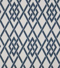 Upholstery Fabric- Eaton Square Hyde Park-Sapphire Lattice: upholstery fabric: home decor fabric: fabric: Shop   Joann.com