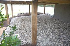 stones under deck idea