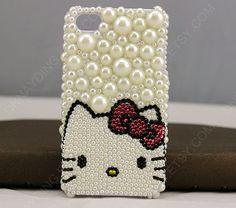 iphone 4 caseiphone 5 case kitty iphone 4 case kitty by dnnayding, $28.99
