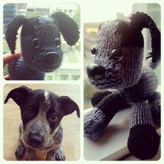Little black and grey puppy... #whichoneisreal #puppy #knit #blackandgrey #knittedtoys #knit #wool #toys #toystagram #saskiasark #order