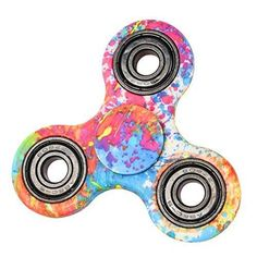 Ochine Anti-Anxiety Hand Spinner Focusing Fidget Toys 3D Figit Premium Quality EDC Focus Toy for Kids Adults Stress Reducer Relieves ADHD Boredom Killing Time Planet Leopard Flower (E)