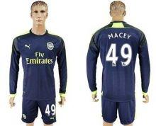 Arsenal #49 Macey Sec Away Long Sleeves Soccer Club Jersey