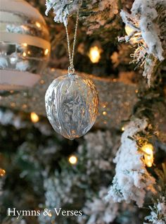 Gilded Silver Real Walnut Ornaments - Sterling Silver Spray Paint!