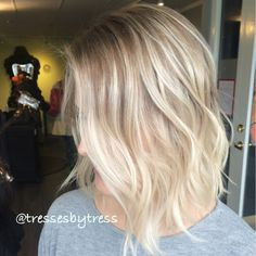 Natural rooted platinum balayage ombre