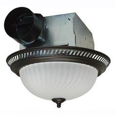 Decorative Bronze 70 CFM Ceiling Exhaust Fan with Light