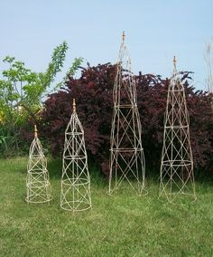 Wrought Iron Beehive Topiaries - Topiaries & Obelisks -- for tomatoes?