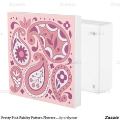 Pretty Pink Paisley Pattern Flowers Tear Drops Outlet Cover