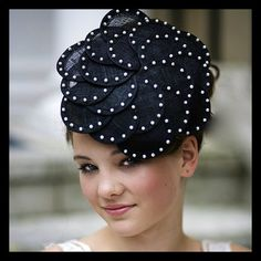 Lizzie  Black Flower Style Sinamay Fascinator by JustFasinating, £69.99