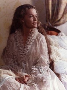 Romy Schneider as Sissi, in Her Gorgeous Divine Peignoir...... Hhm, I LOVE those old time night Gowns and Peignoirs! Straight out of bed, one slips into such a Divine garment and feels like a Queen of Elegance and Grace straightaway.... (6)